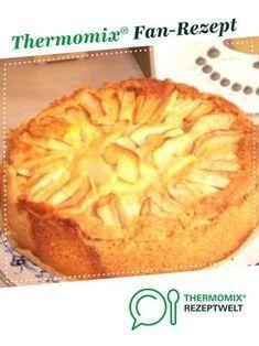 Apfelkuchen Mit Sahne Puddingguss Rezept Apfelkuchen Thermomix