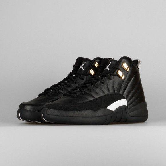 Nike Air Jordan Retro 12 XII The Master Black white 12s Jordan Shoes  Sneakers cedf8d6259ad4