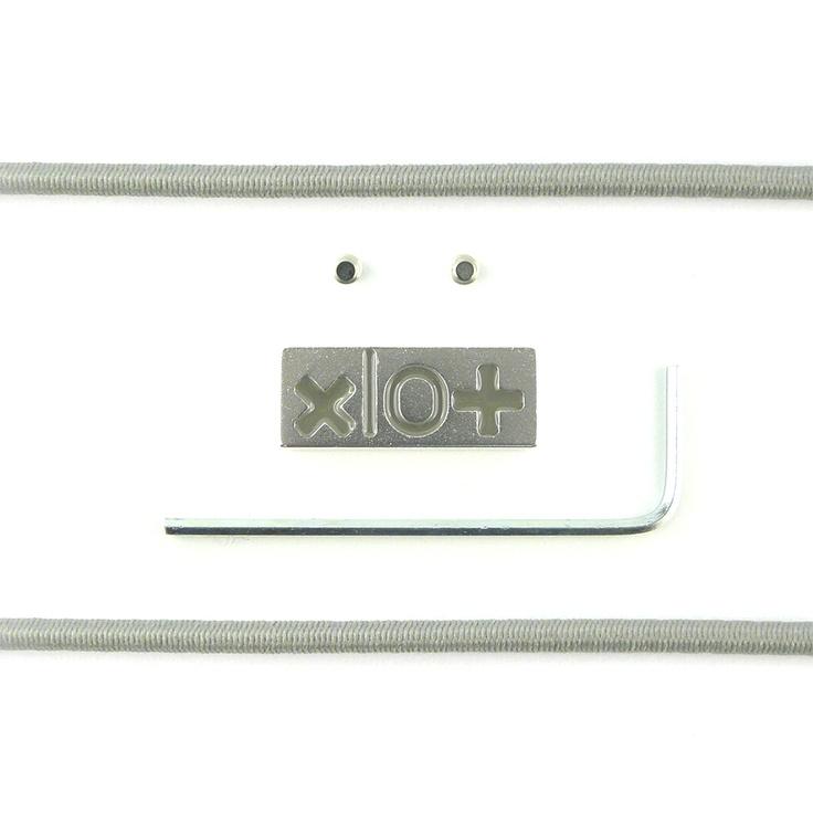 Mattoncino #xlo+ brillantinato grigio $33.45