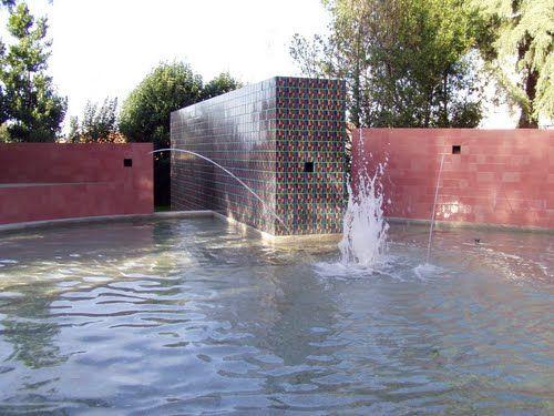 Manuel Cargaleiro | Castelo Branco | Fonte / Fountain Parque da Cidade #Azulejo #ManuelCargaleiro