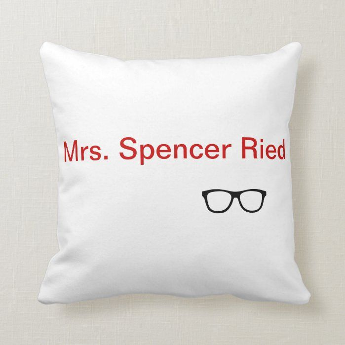 Mrs Spencer Reid Throw Pillow Zazzle Com In 2021 Spencer Reid Throw Pillows Spencer