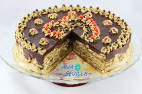 Tarta de galletas y moka Ana Sevilla con Thermomix.