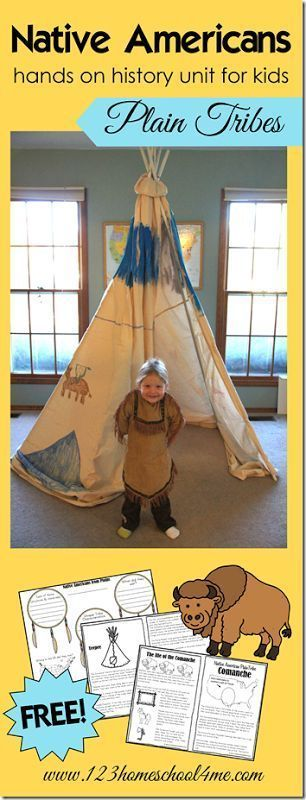FREE Native Americans - Plains Tribes History for Kids. So many cute, hands on activities for Kindergarten, 1st grade, 2nd grade, 3rd grade, 4th grade, and 5th grade students plus FREE worksheets for kids (homeschool, history for kids)