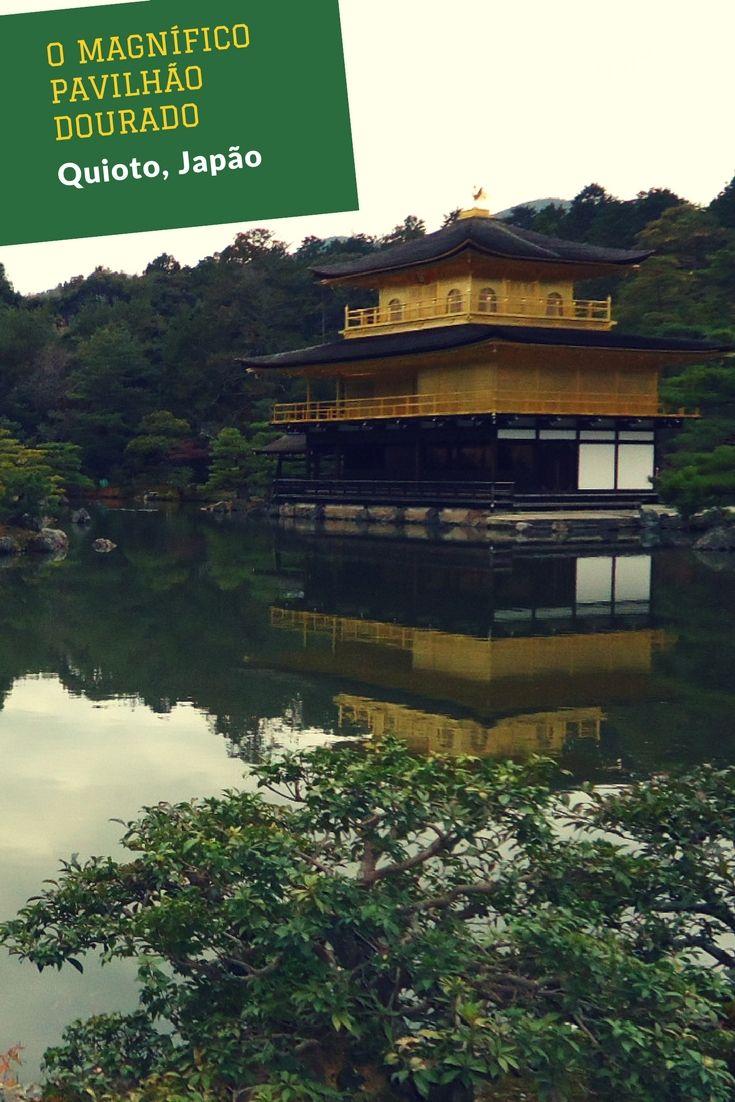 O Pavilhão Dourado é um dos cartões postais de Quioto e tem razão de ser: ele é magnífico!
