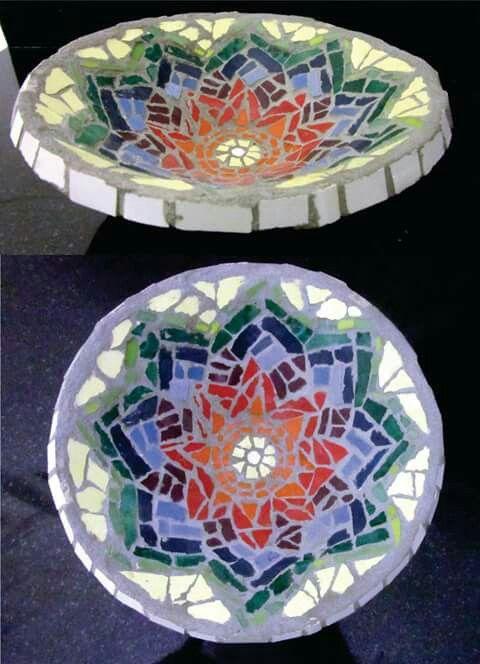 Mosaico, método directo sobre cerámica.