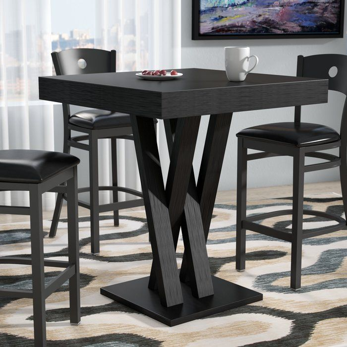 Hodder Bar Height Solid Wood Dining Table Solid Wood Dining