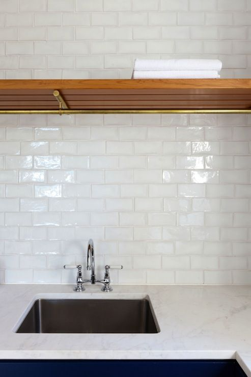 white 4x6 subway tiles for kitchen backsplash project