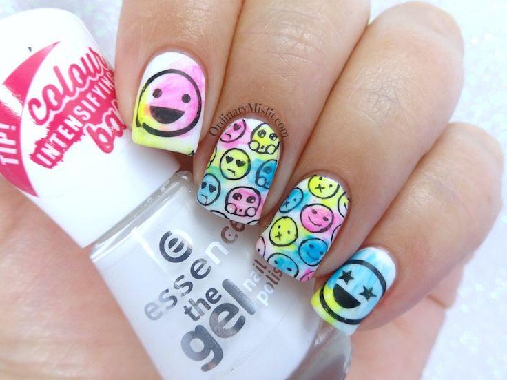 Emoji nail art tutorial : Ideas about emoji nails on for