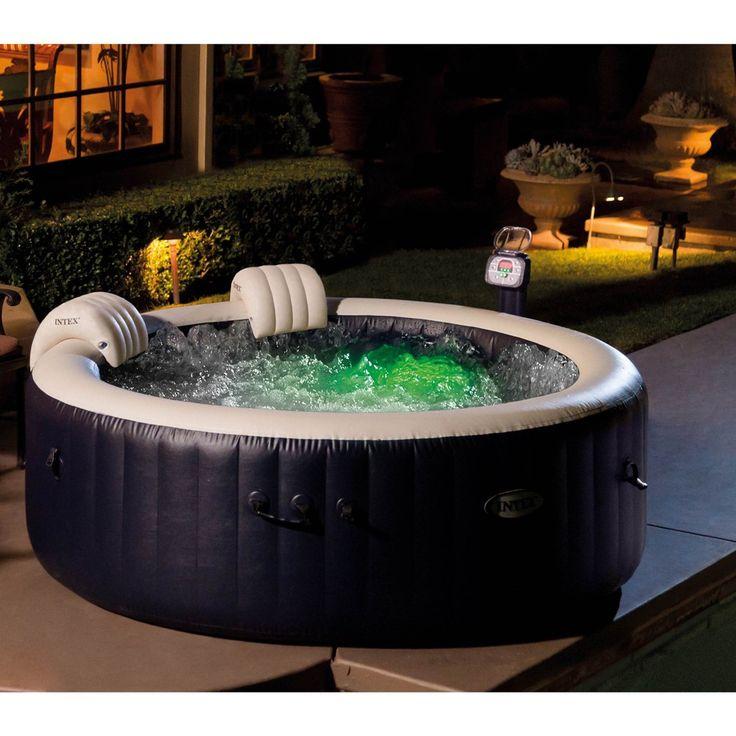Intex PureSpa 4Person Inflatable Hot Tub, SlipResistant