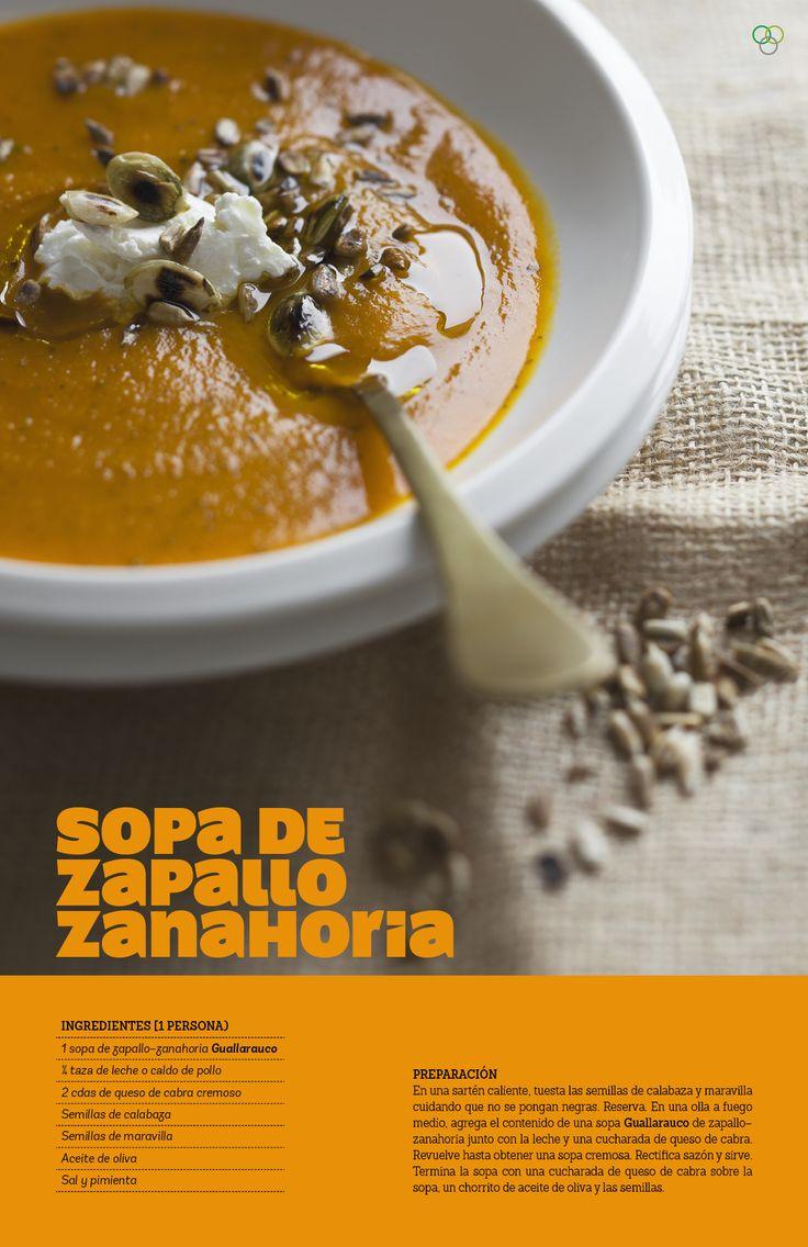 Sopa de zapallo zanahoria / IMG Araceli Paz #Guallarauco #sopadezapallo