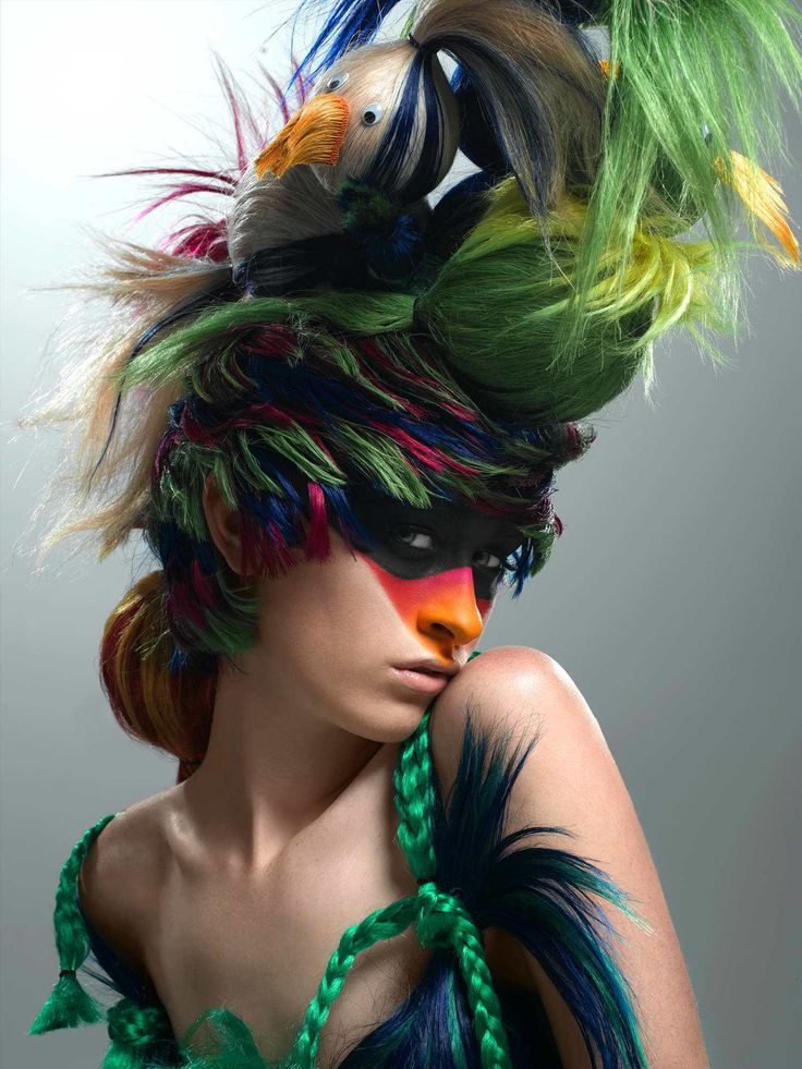Colorful Makeup Photo Shoot | America's Next Top Model Cycle 7 Big Hair Photoshoot