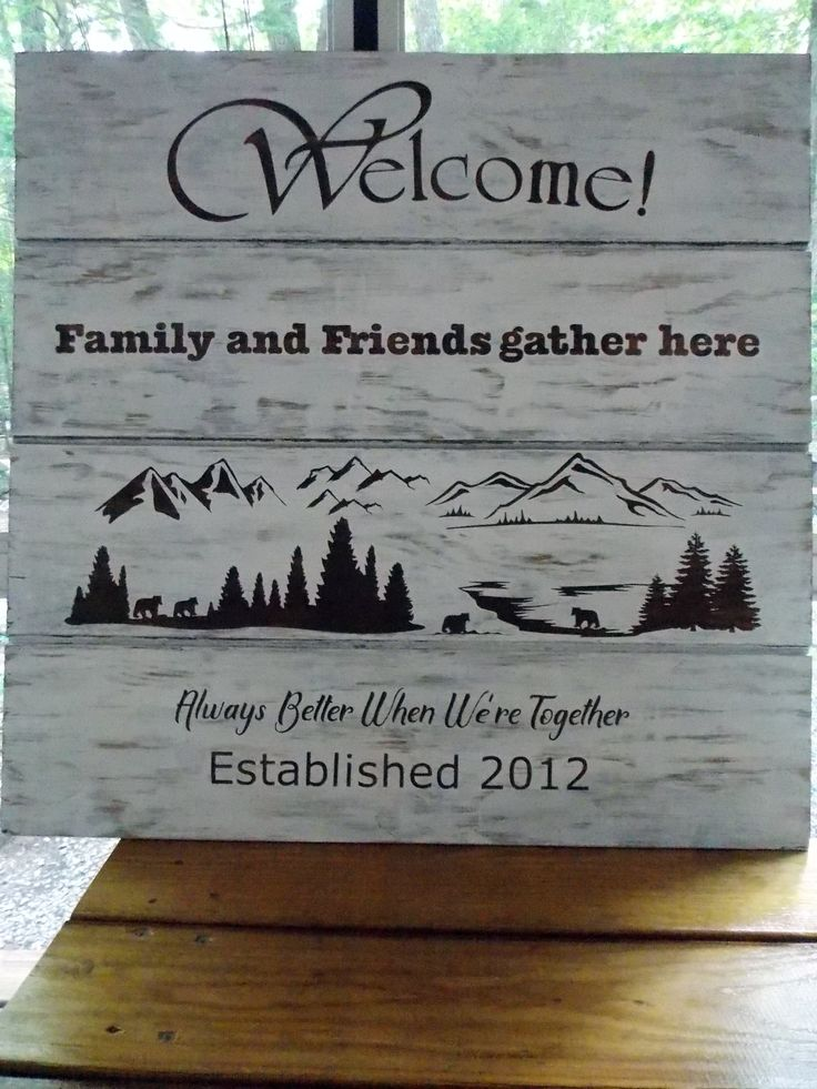 59 Best Wood Signs With Vinyl My Projects Images On