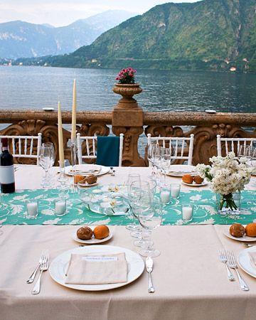 Dining on Lake Como, Italy
