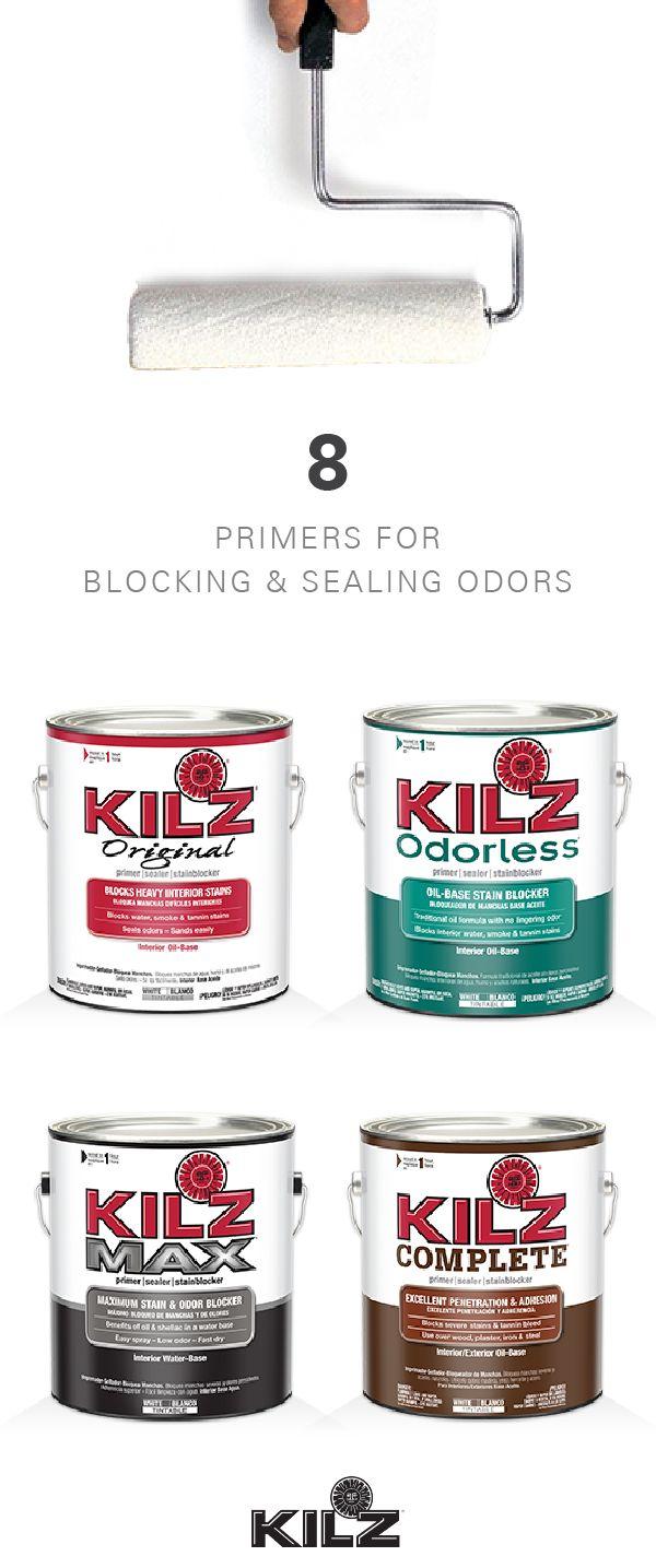 Looking to breathe new life into an outdated fixer upper? KILZ Primers can help. This quality collection of paints and primers will block and seal odors for a totally fresh start and wow-worthy finish. For every room and DIY home decor project, try out one of these eight primers.