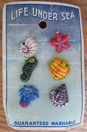 sweet Czech vintage glass buttons