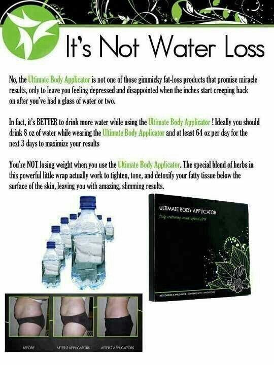 A huge Myth! it works body wraps are definitely not water loss!! you can get a box of 4 wraps for only $59 as a loyal customer!!