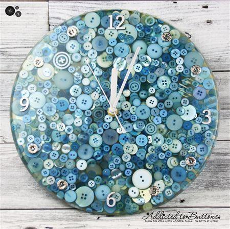 Tick Tock Frozen Blue Resin Clock Silent Motion