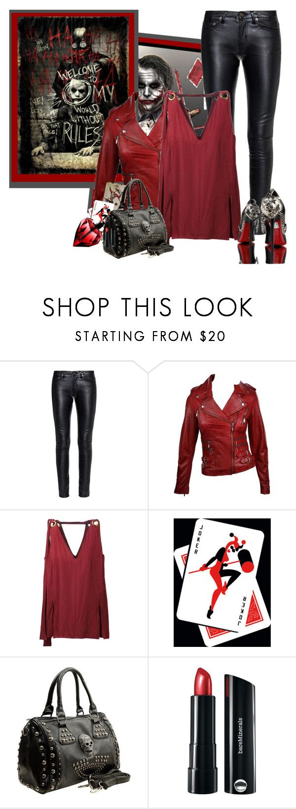 """""""Joker, The DarkKnight Pourquoi aussi sérieux?"""" by frane-x ❤ liked on Polyvore featuring Yves Saint Laurent, Retrò, Lanvin, Bare Escentuals and Gianmarco Lorenzi"""