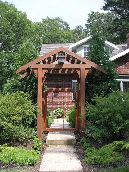 17 best images about entrance arbors on pinterest for Gate arbor plans