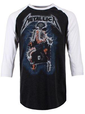 Metallica Vintage Electric Chair Men's Baseball T-Shirt