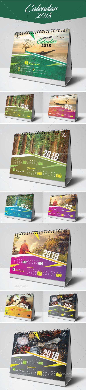 Calendar 2018 Template Vector EPS, AI Illustrator