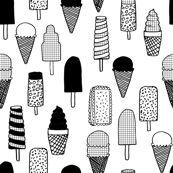 Ice Cream - Black & White/Grid by Andrea Lauren by andrea_lauren