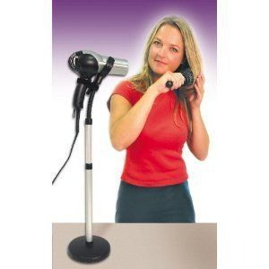 Hair Dryer Stand - more here: http://lizheather.com/thisislizheather/2014/1/15/hair-dryer-stand
