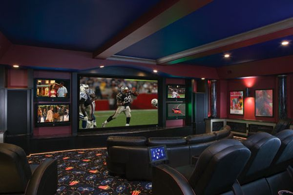 Dream Basement... perfect for football Sundays! And this will be for me, not my husband!!