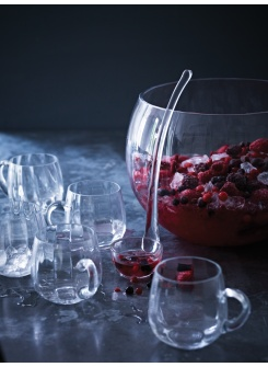 Punch Bowl and Handled Glasses Set -Cox