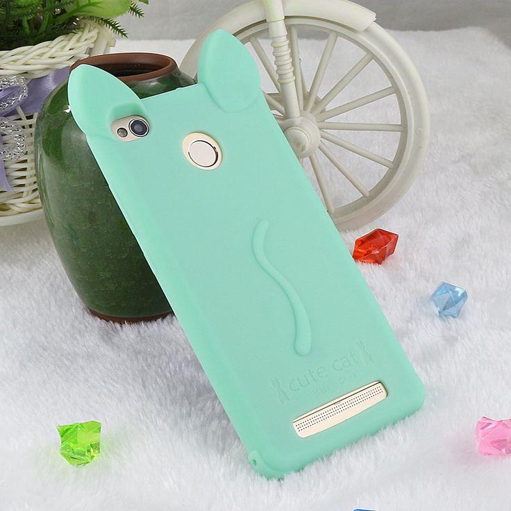 Cute Cat Case For Xiaomi Redmi 3 S 3S Pro Prime Cover Silicone Funny Girls Soft TPU Rubber Back Cover Hello Kitty Style
