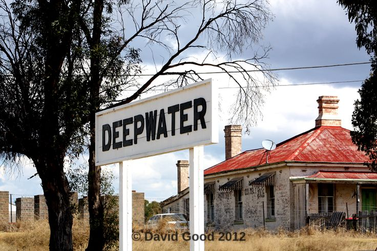 Station name board at Deepwater on the Great Northern Railway. Photograph by David Good in 2012.
