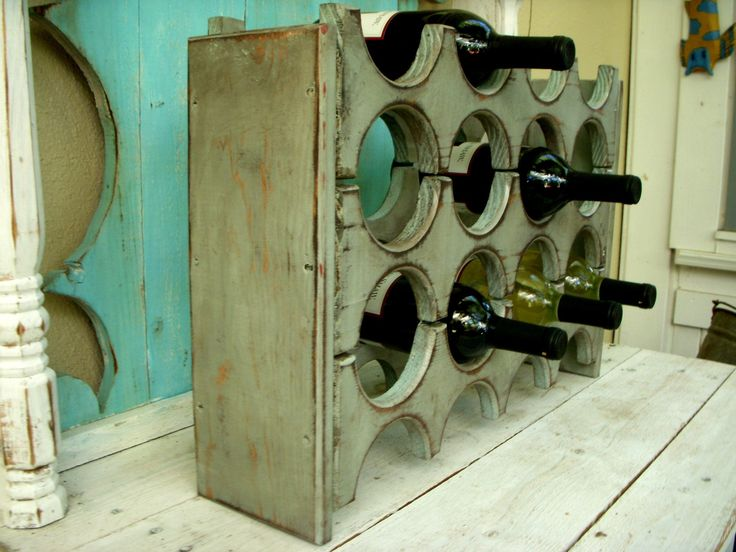 french country wine rack could also be consider shabby chic