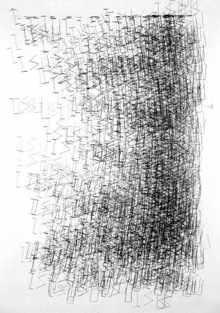"Ana Hatherly, ""O Pavão Negro"", 66,5x68,5 cm, 1999"