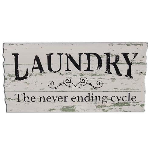 "Never ending Cycle Sign is made of painted, faux-distressed wood and measures 11½"" high by 23"" wide. FREE SHIPPING! WE SHIP IN 3-5 BUSINESS DAYS"