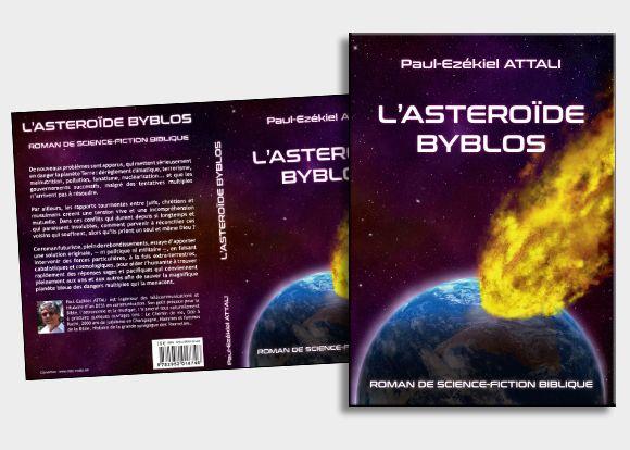 Pour réaliser cette couverture, nous avons procédé à des effets de calques pour la création du fond, des techniques de photomontage pour l'incrustation de la planète et l'utilisation de « brushs » spécifiques  pour la création de l'astéroïde en flamme. #photomontage