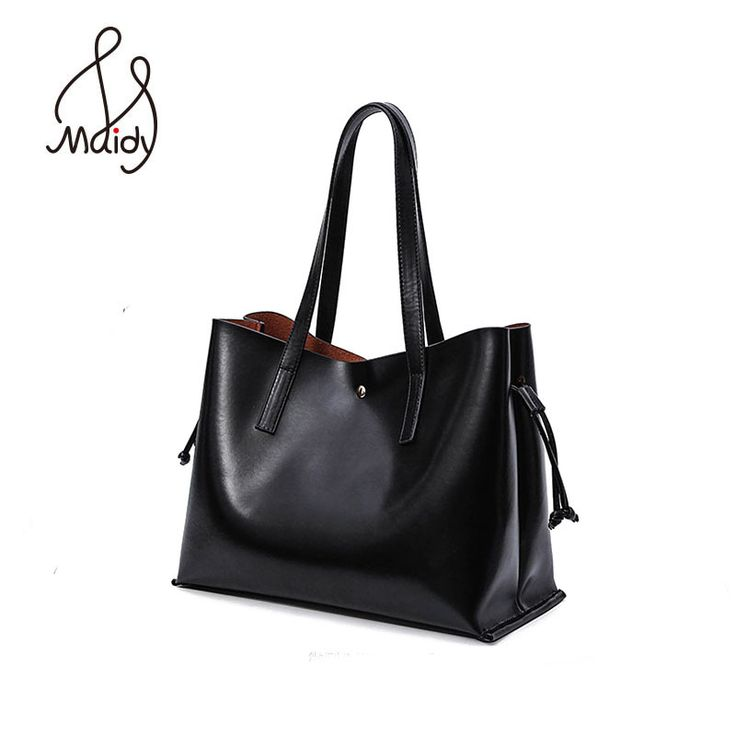 Brand Vintage High Quality Genuine Split Leather Women Black Tote Bags For Bag Channels Handbags Totes Hand Pochette Genuine