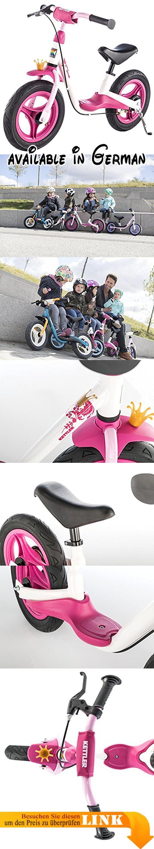 Kettler Laufrad Spirit Air Princess 2.0 – das ideale & verstellbare Lauflernrad – Kinderlaufrad mit Reifengröße: 12,5 Zoll – mit Luftbereifung – stabiles & sicheres Laufrad ab 3 Jahren – pink & weiß. MIT TEMPO UNTERWEGS: Dieses Laufrad ab 2 Jahre ist ein absolutes Highlight vom Kindergarten bis ins Vorschulalter. Egal wohin es ab sofort geht - das neue Laufrad für Kinder muss mit!. LERNEN & SPIELEN: Das Fahren mit dem Kinder Laufrad macht nicht nur Spaß, sondern