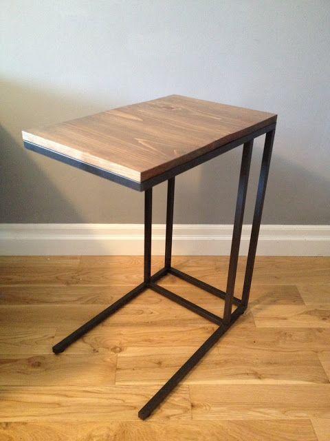 """Materials: Vittsjo Laptop TableDescription: Inspired by the stylish """"C"""" shaped side tables from stores such as West Elm and Crate"""
