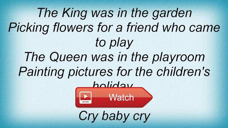 Beatles Cry Baby Cry Lyrics  Beatles Cry Baby Cry Lyrics