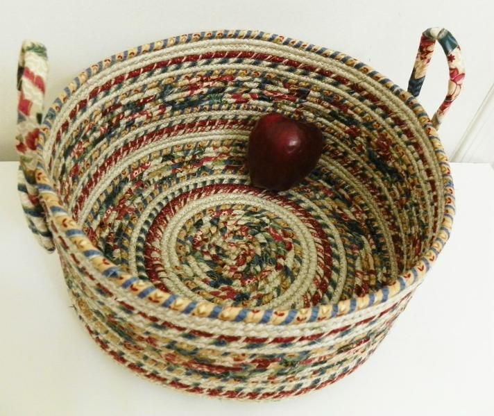 extra large fabric coiled basket
