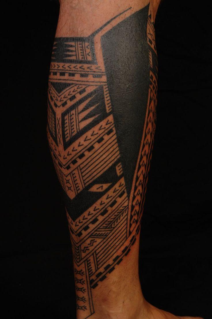 Maori Leg Tattoo Design: MAORI LOWER LEG TATTOO - Google Search