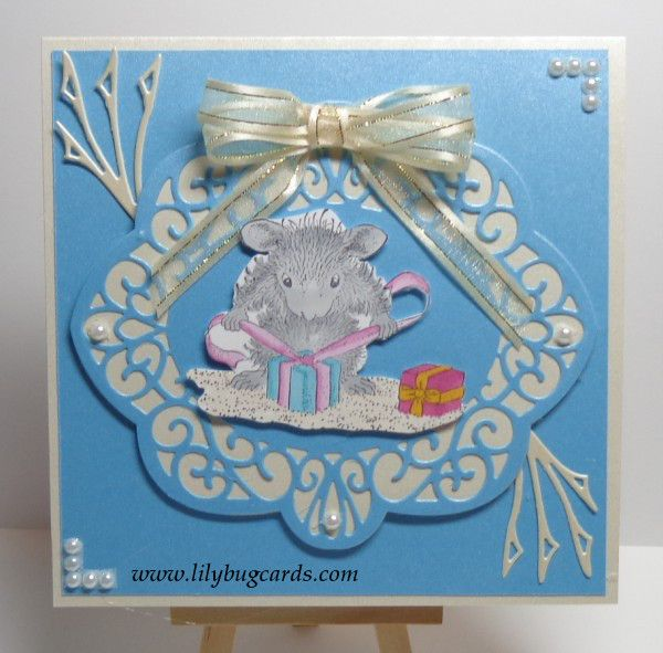 """House mouse """"Gifts To Tie"""" on Neenah stock"""