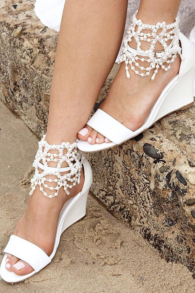 24 Beach Wedding Shoes Perfect For An Seaside Ceremony Wedding Dresses Guide Beach Wedding Shoes Beach Wedding Shoes Wedge Wedding Sandals