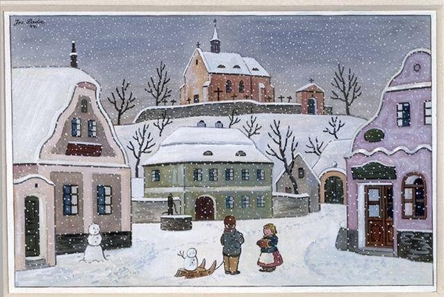 Pohlednice Josefa Lady prostě patří k Vánocům: :-). Josef Lada's christmas cards