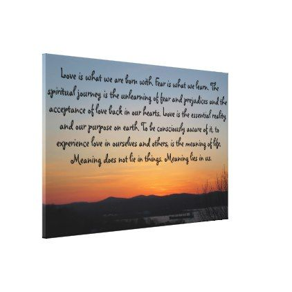 Gradient Sunset | Love Quote Canvas Print - black gifts unique cool diy customize personalize