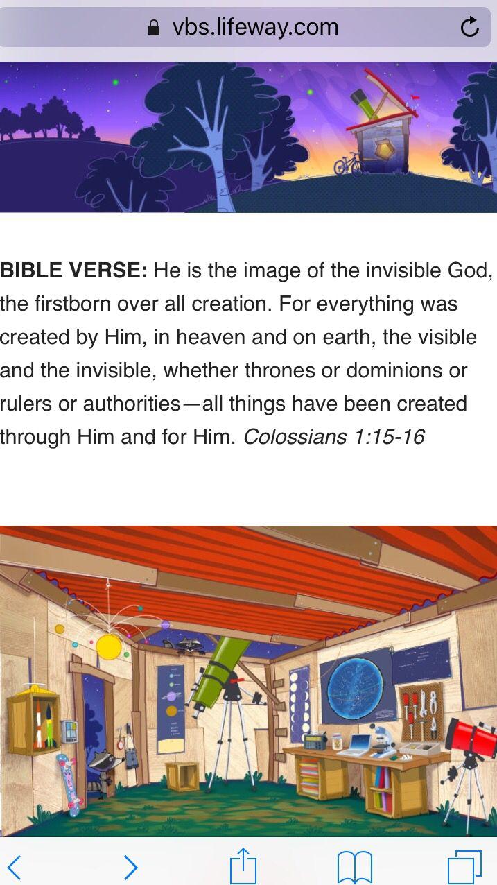 Bible Verse VBS 2017 Pinterest Vacation Bible School