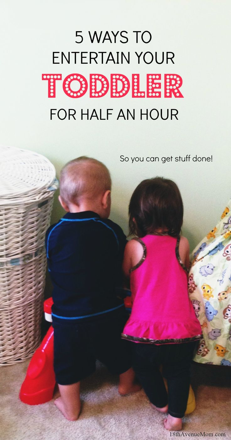 Looking for ways to keep your little ones occupied while you get things done? Here are some tried and true ways to entertain your toddler for half an hour or so!