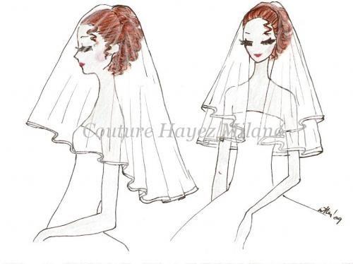 Il velo sposa Medio