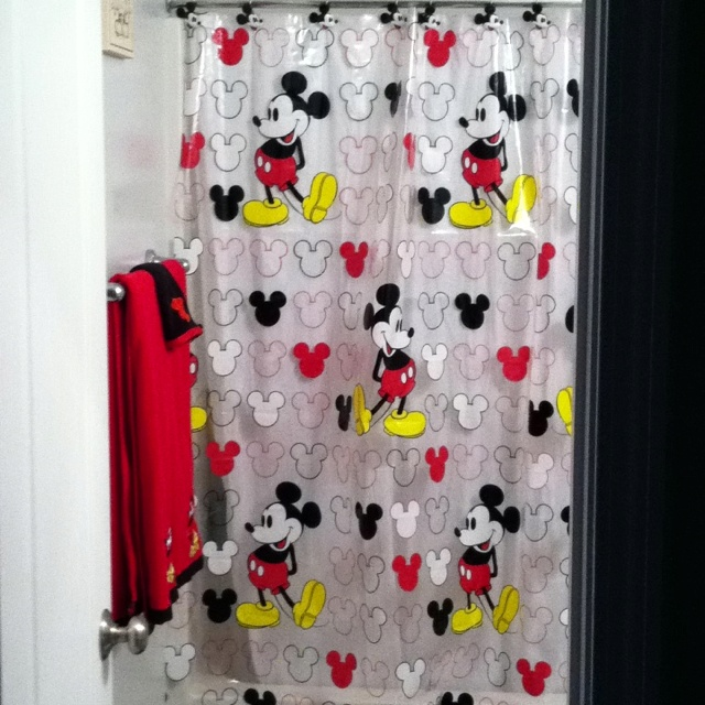 93 best mickey mouse bathroom images on pinterest for Mickey mouse bathroom ideas