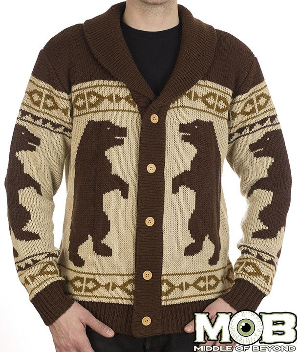 grizzly bear cardigan middle of beyond